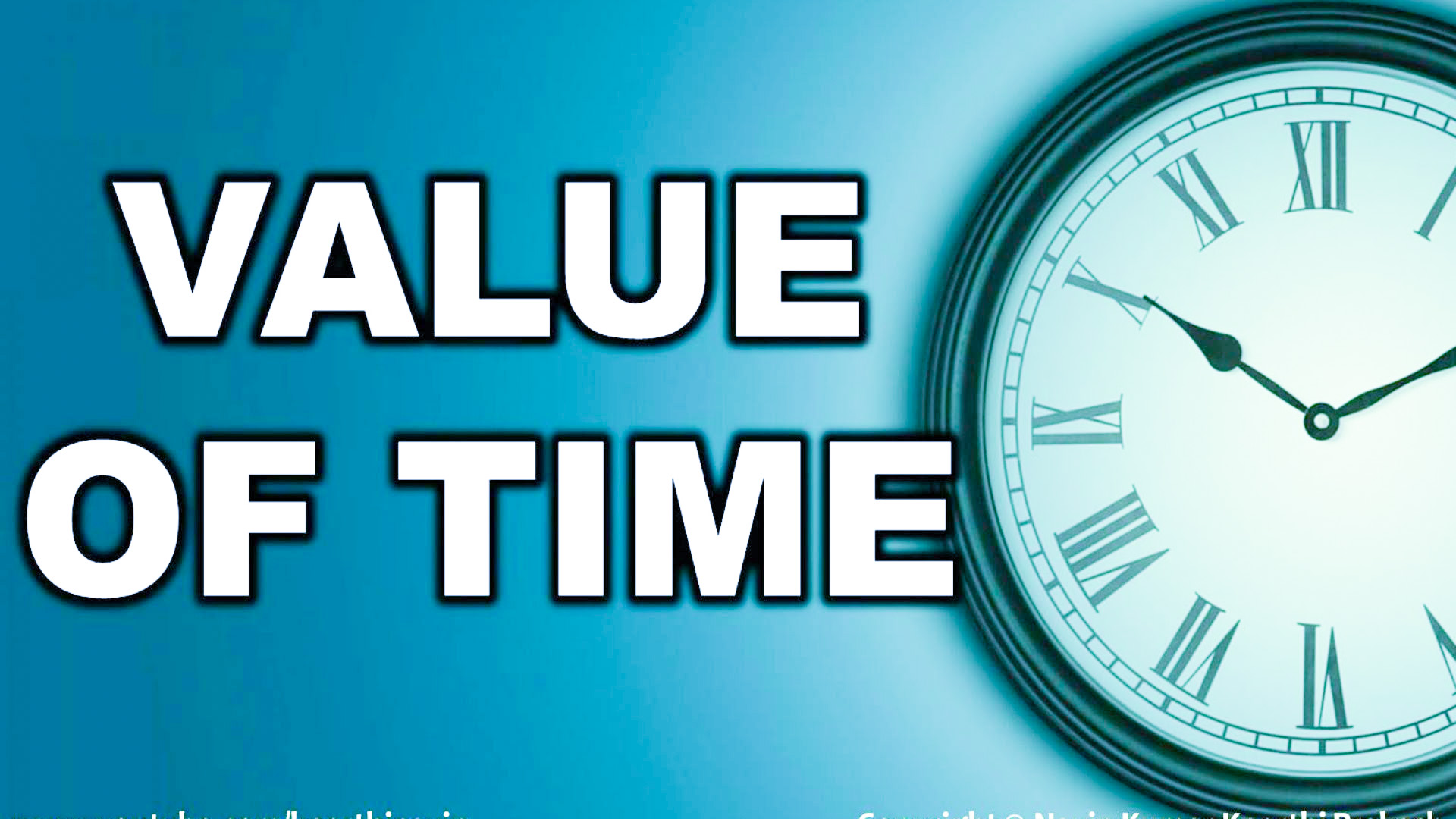 Essay on Value of Time for Children and Students
