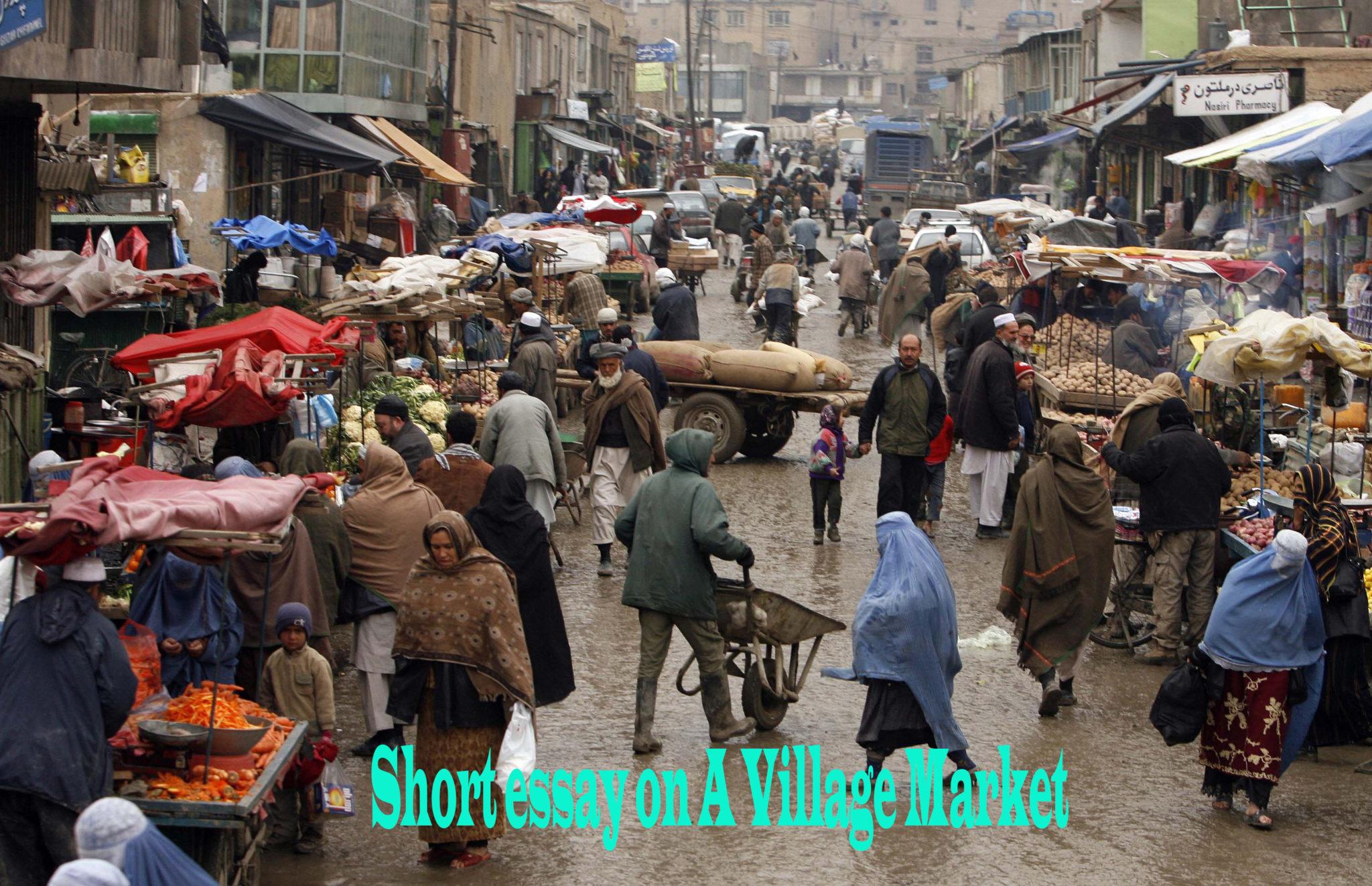 Short essay on A Village Market