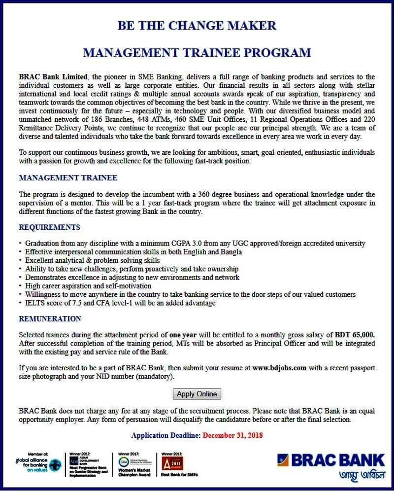 BRACK Bank Limited Job Circular