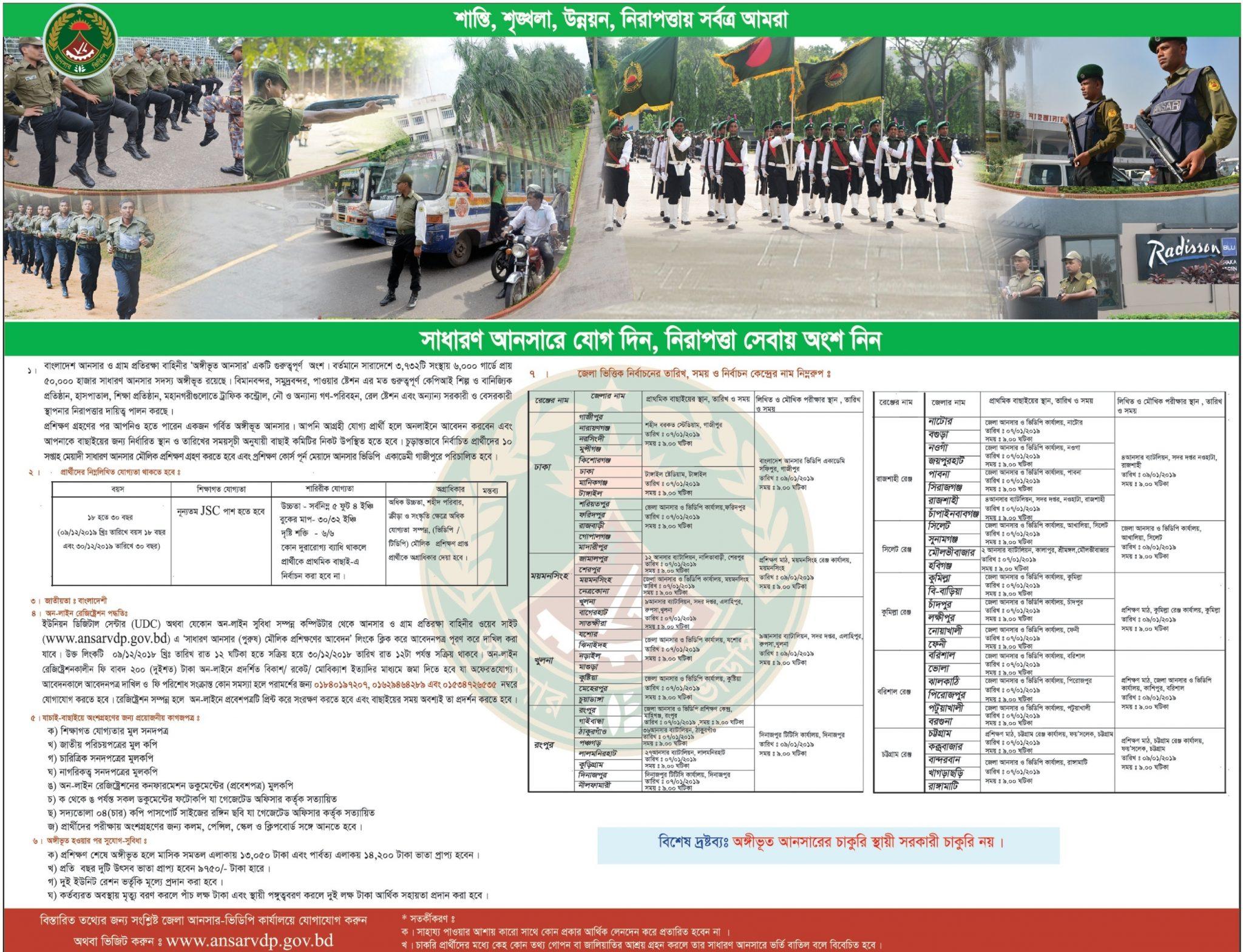 Bangladesh VDP JobCircular 2018