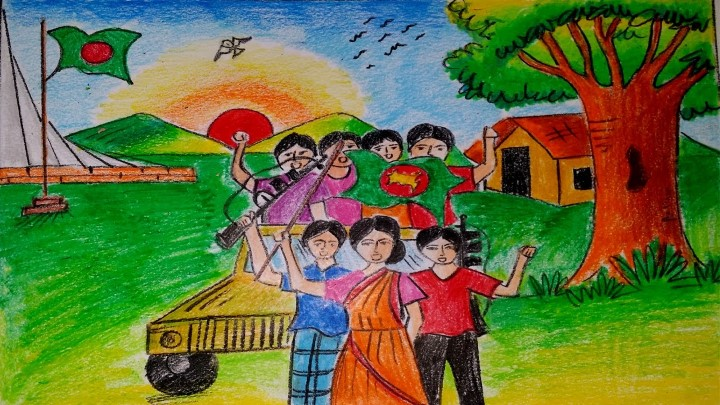 Bijoy dibosh drawing, Bijoy dibosh drawing images, Bijoy dibosh drawing free picture