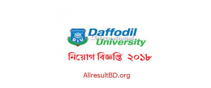 Daffodil International University Job Circular 2018