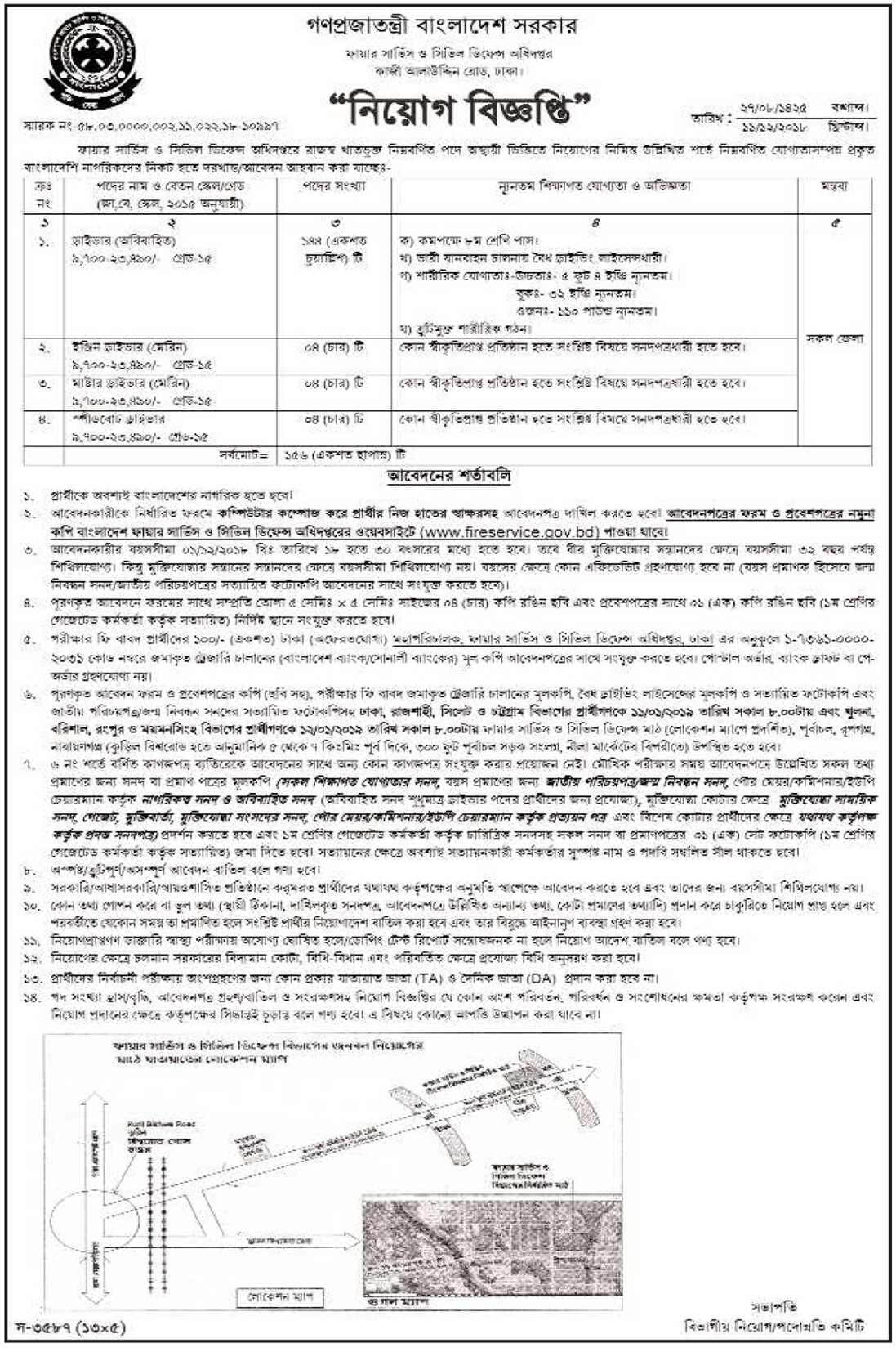 See Fire Service and Civil Defense Job Circular 2019