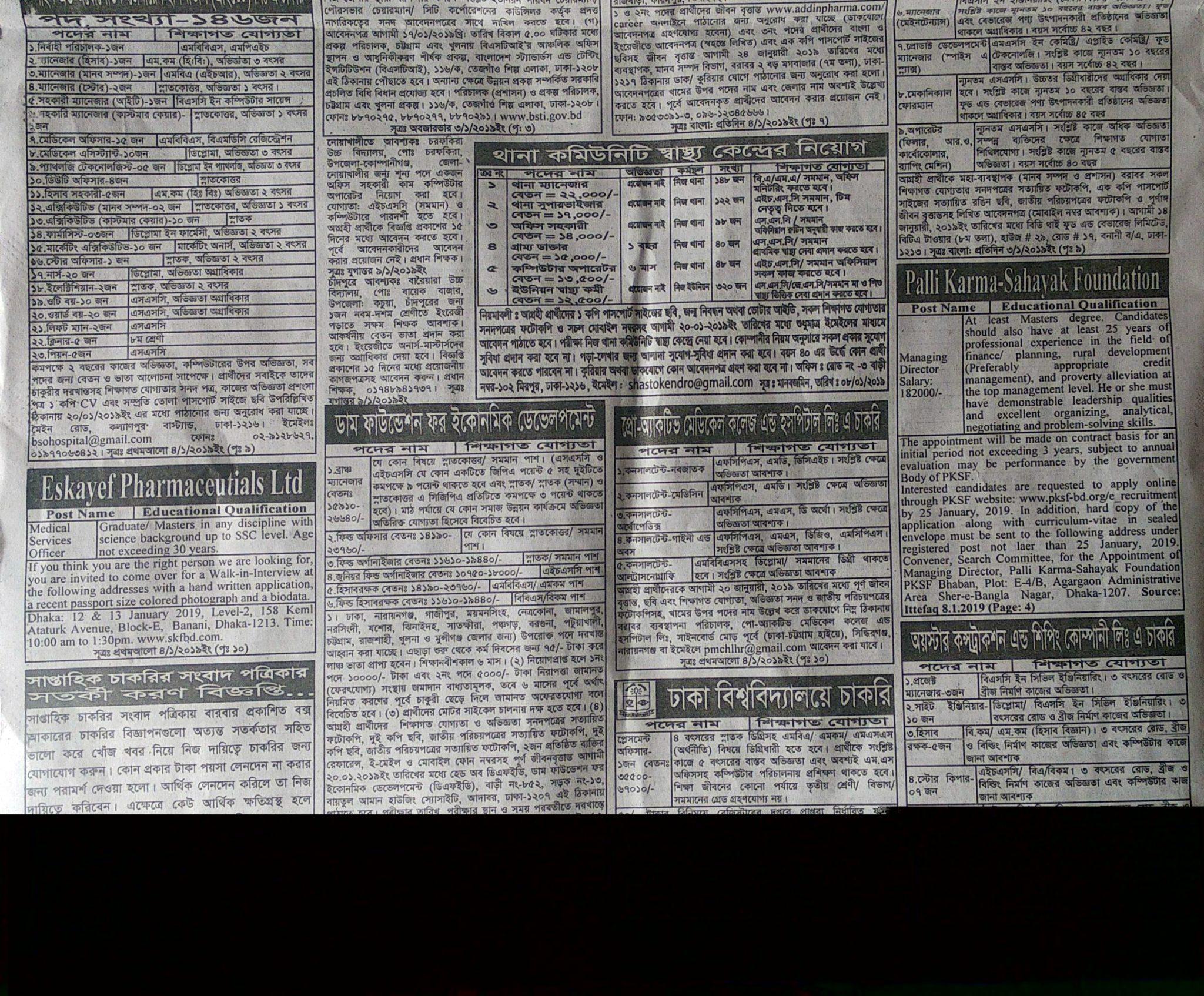 weekly Jobs Newspaper 11 January 2019