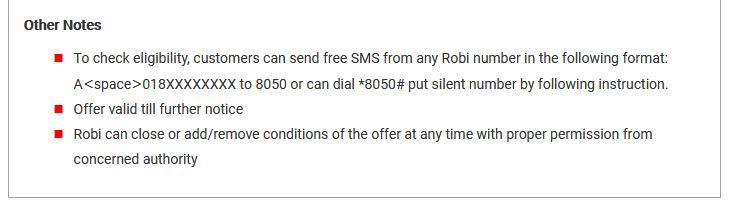 Check here you are eligible for Robi bondo sim offers Yes or not.