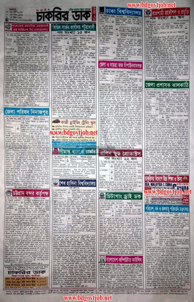 Weekly Job Newspaper 29 March 2019
