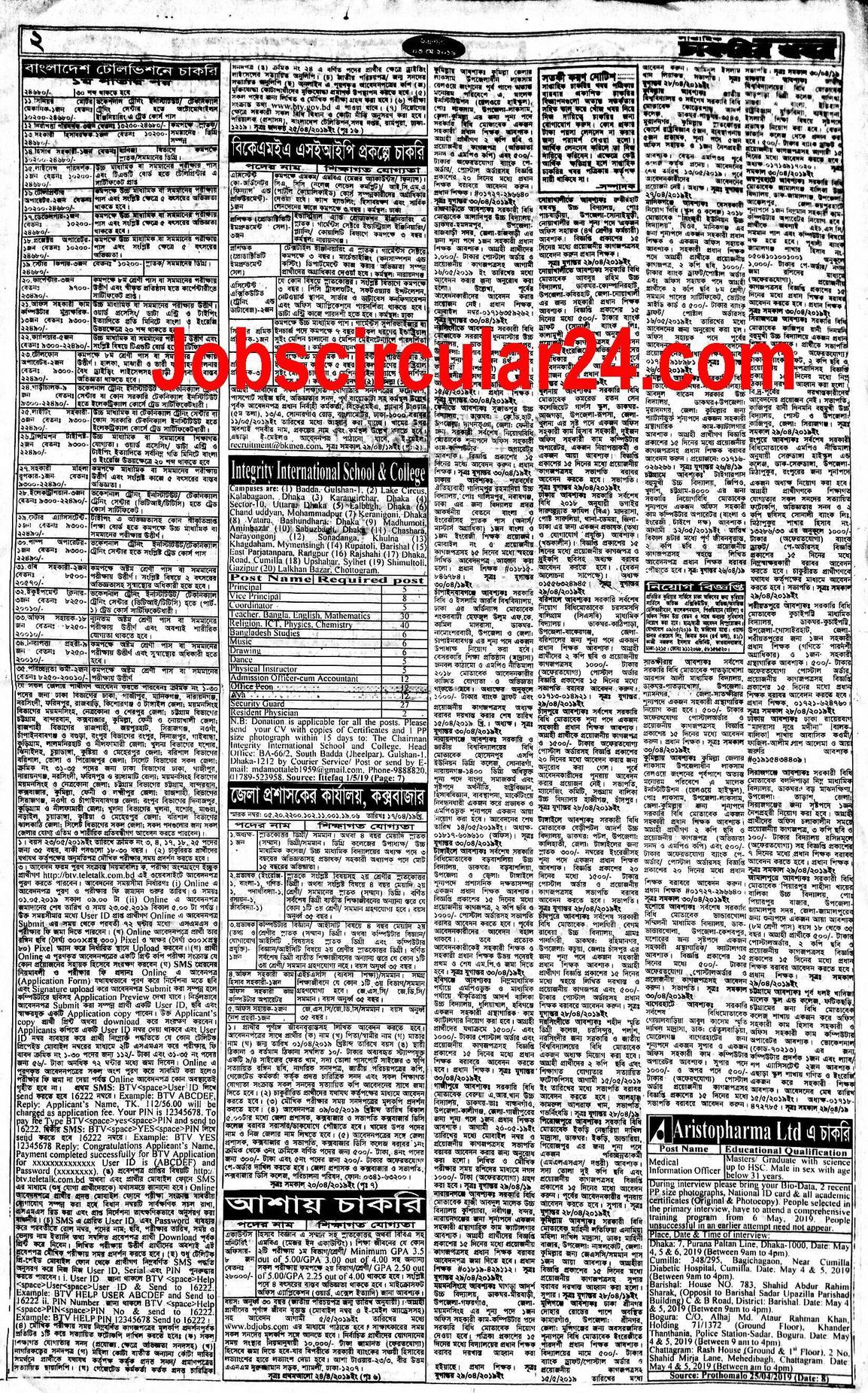 Weekly Job Newspaper 10 May 2019: সাপ্তাহিক চাকরির খবর