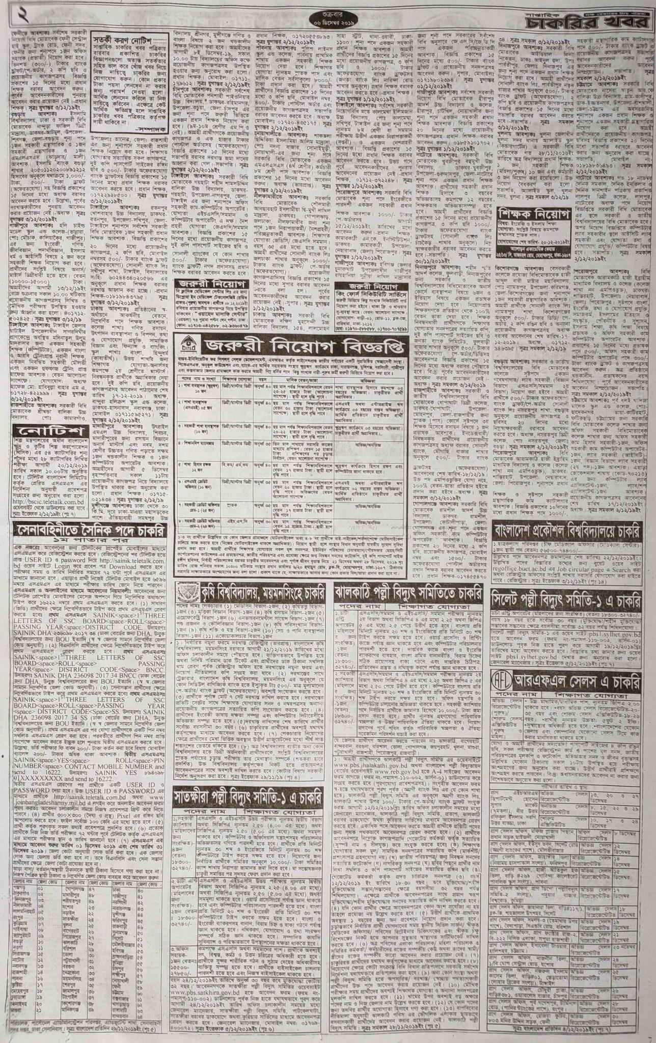 Weekly Job Newspaper 13 December 2019